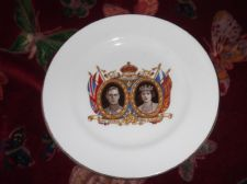VINTAGE GILDED SIDE PLATE RADFORDS CORONATION GEORGE VI MAY 1937 ELIZABETH